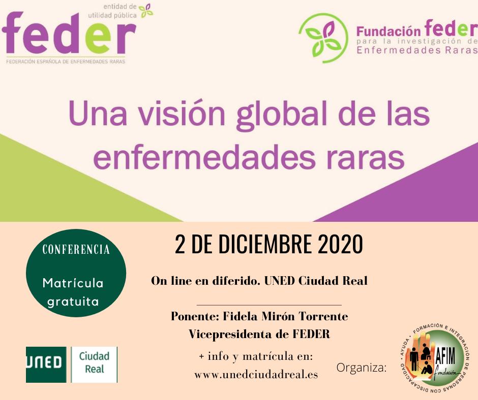 Conferencia sobre enfermedades raras organizada por Fundación AFIM junto a Uned Ciudad Real
