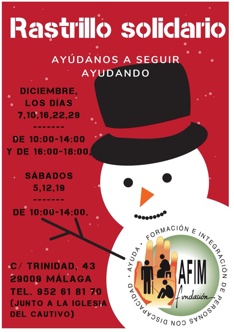 Rastrillo solidario de Fundación AFIM Málaga, ¡no te lo puedes perder!