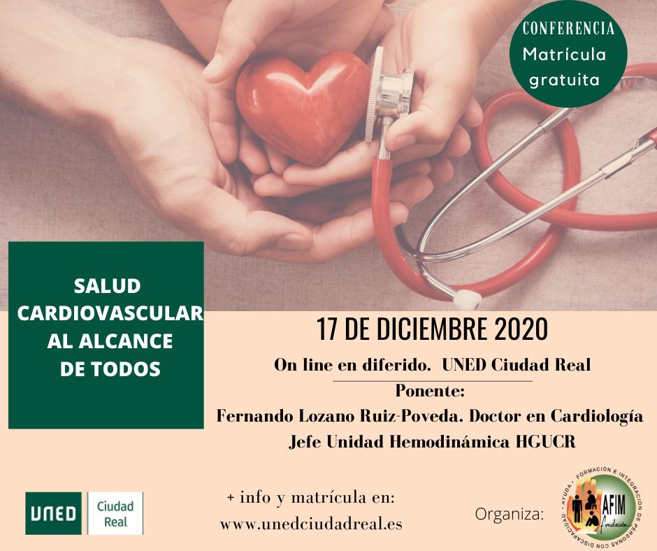 Salud cardiovascular, nueva conferencia organizada por Fundación AFIM Valdepeñas